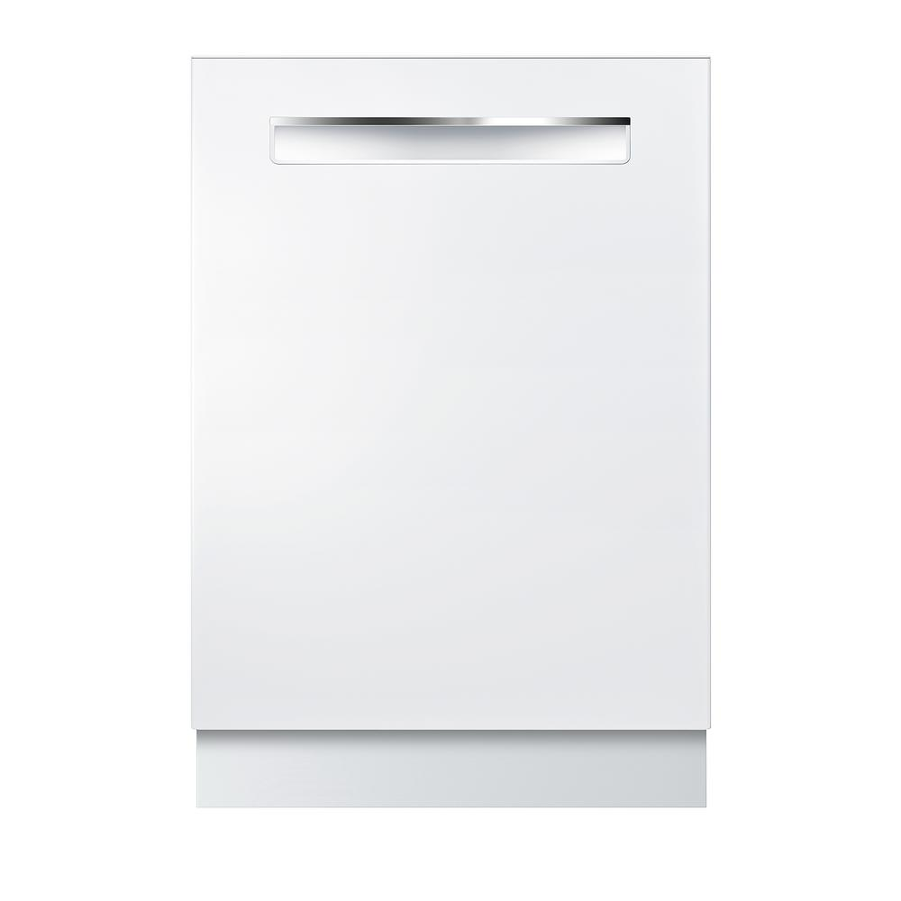 Bosch 800 Series Top Control Tall Tub Pocket Handle Dishwasher in White  with Stainless Steel Tub, CrystalDry, 42dBA
