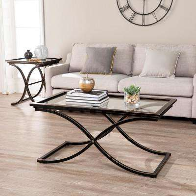 Vogue Black Contoured Coffee Table