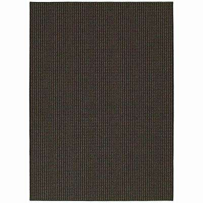 Berber Colorations Black 7 ft. 6 in. x 9 ft. 6 in. Area Rug