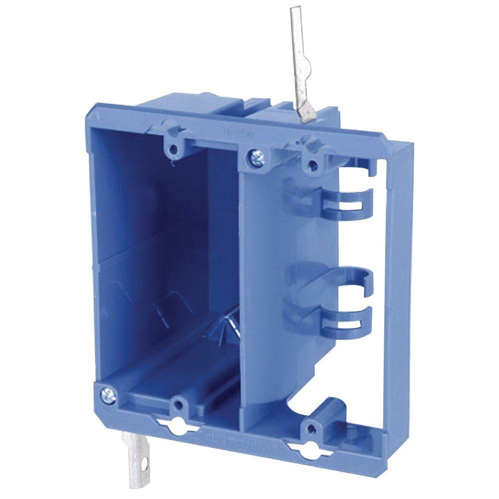 2-Gang PVC Dual Voltage Box/Bracket (Case of 12)