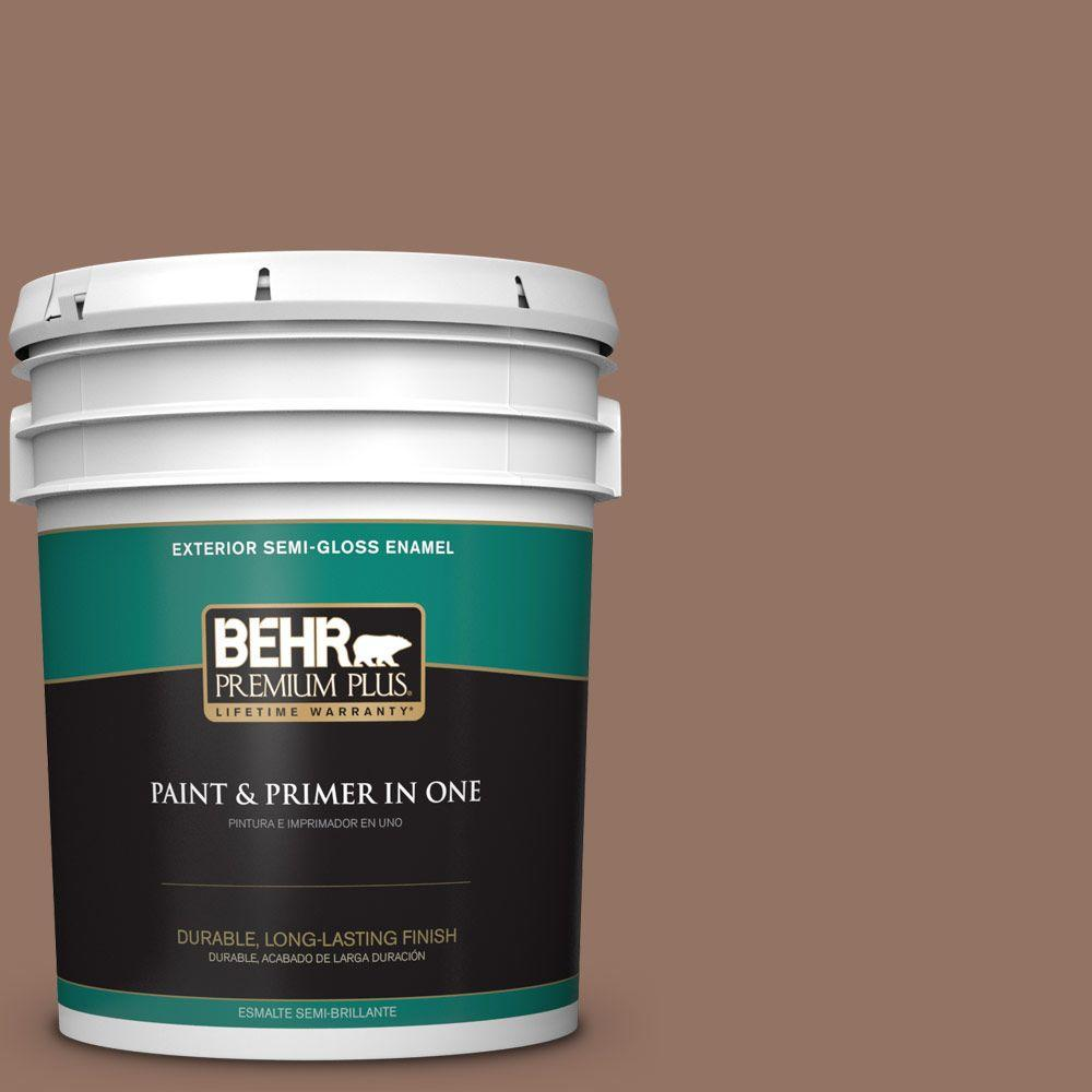 5-gal. #BXC-84 Corral Brown Semi-Gloss Enamel Exterior Paint