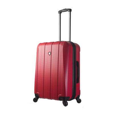 Tosetti 24 in. Red Hard Side Spinner Suitcase