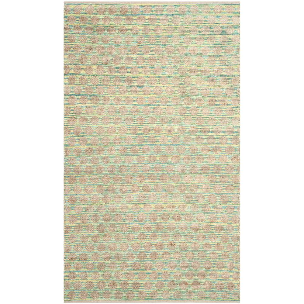 Safavieh Cape Cod Teal/Natural 5 ft. x 8 ft. Area Rug