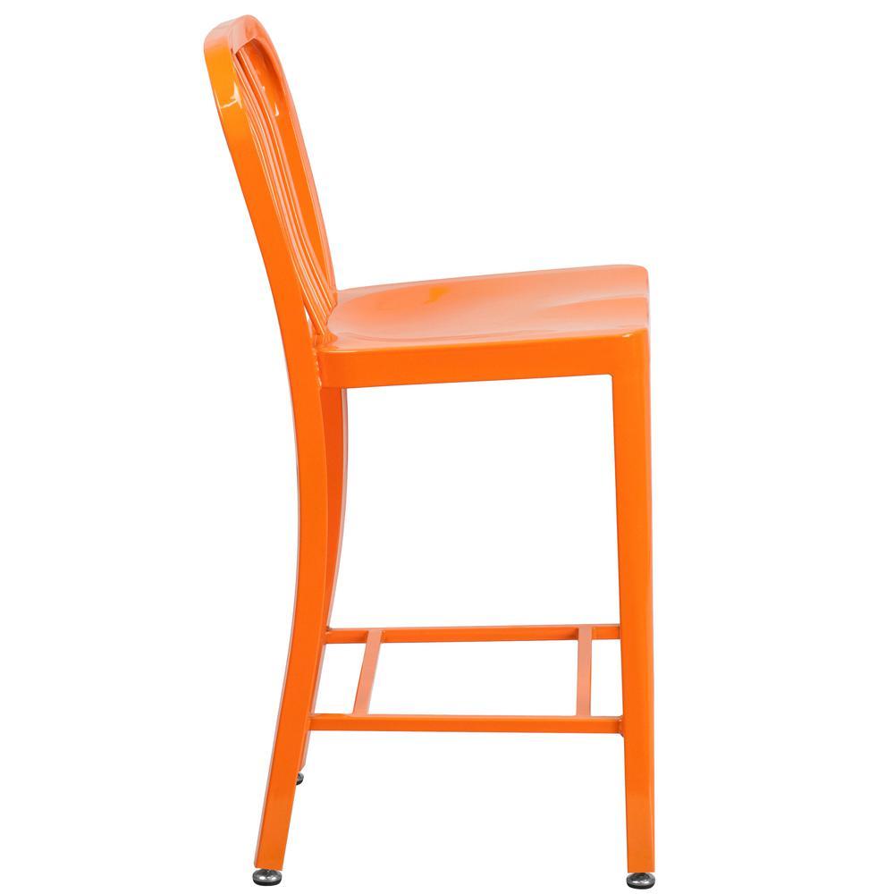 Surprising Flash Furniture 24 5 In Orange Bar Stool Ch6120024Or The Creativecarmelina Interior Chair Design Creativecarmelinacom