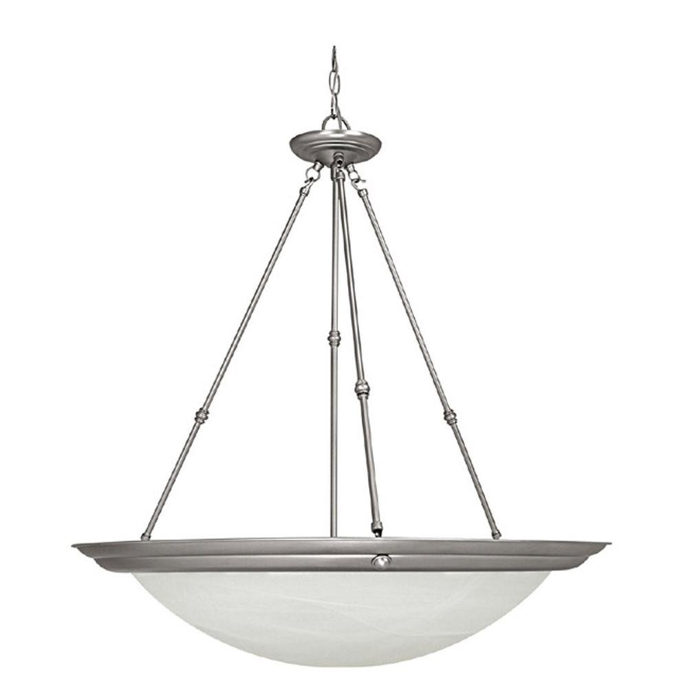 Filament Design Johnson 3-Light Matte Nickel Fluorescent Pendant