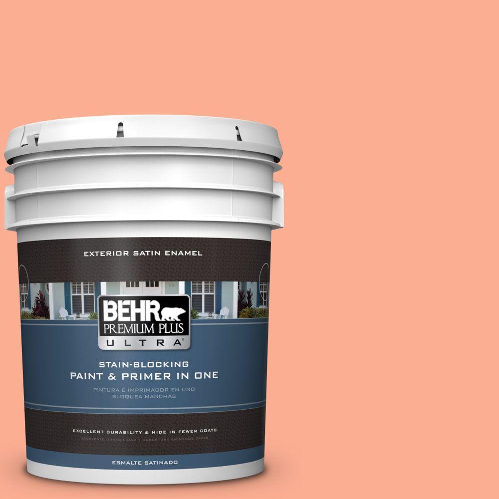 BEHR Premium Plus Ultra 5-gal. #210B-4 Sunset Strip Satin Enamel Exterior Paint