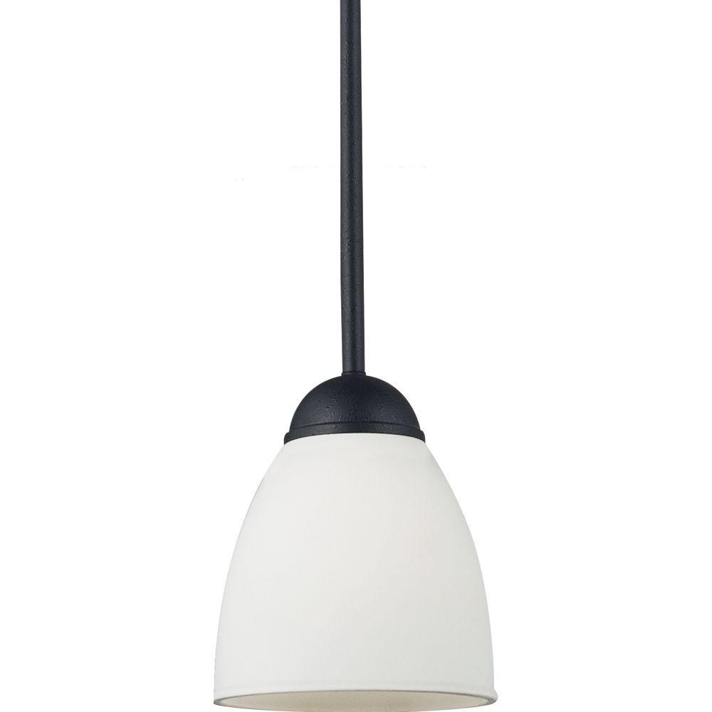 Sea Gull Lighting Uptown 1-Light Blacksmith Mini Pendant