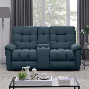 Admirable Prolounger 2 Seat Tufted Recliner Loveseat With Power Uwap Interior Chair Design Uwaporg