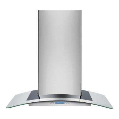 30 in. Wall Mount Chimney Range Hood in Stainless Steel with Glass Canopy