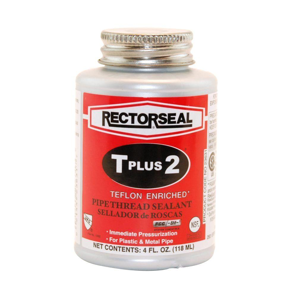 RectorSeal T Plus 2 in  4 oz  Teflon Pipe-Thread Sealant
