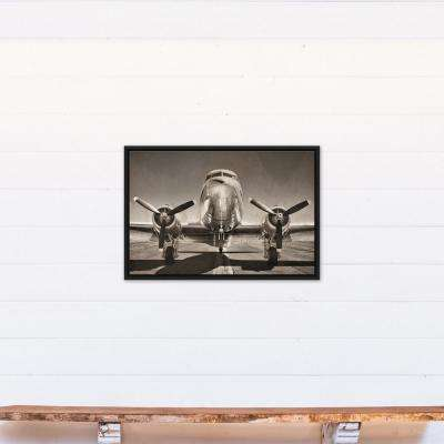 20 in. x 30 in. ''Vintage DC3 Airplane Photograph'' Printed Framed Canvas Wall Art