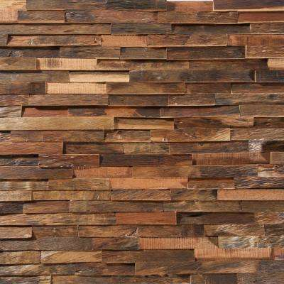 Take Home Sample - Deco Strips Antique Engineered Hardwood Wall Strips - 5 in. x 7 in.
