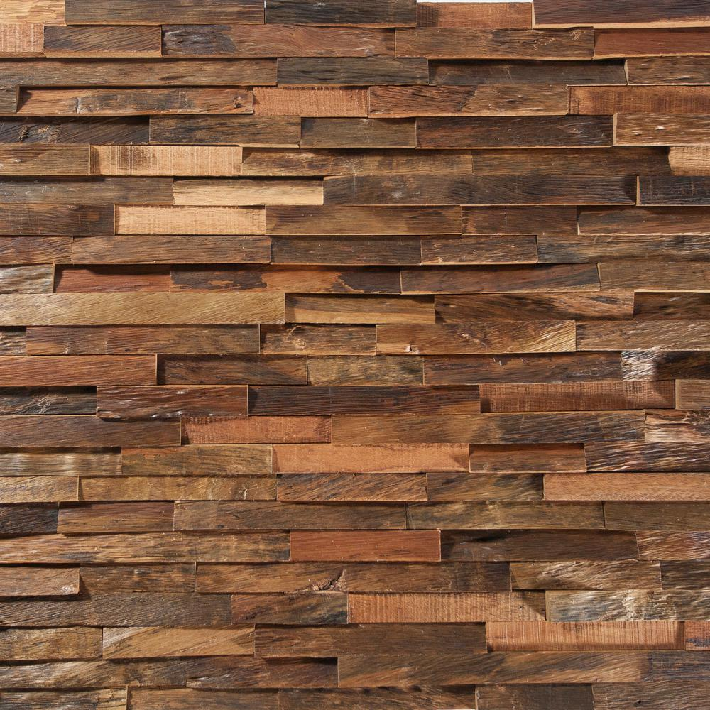 Inject Warmth Into Your Home With Reclaimed Wood Wall: Deco Strips Antique Engineered