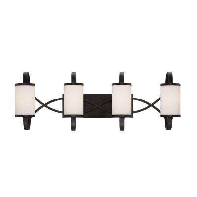 Bellemeade 4-Light Artisan Interior Incandescent Bath Vanity Light