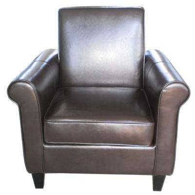 Freemont Brown Leather Club Chair