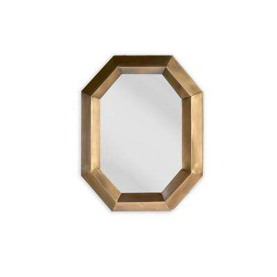 23 in. W x 30 in. H Octagon Wall Mirror