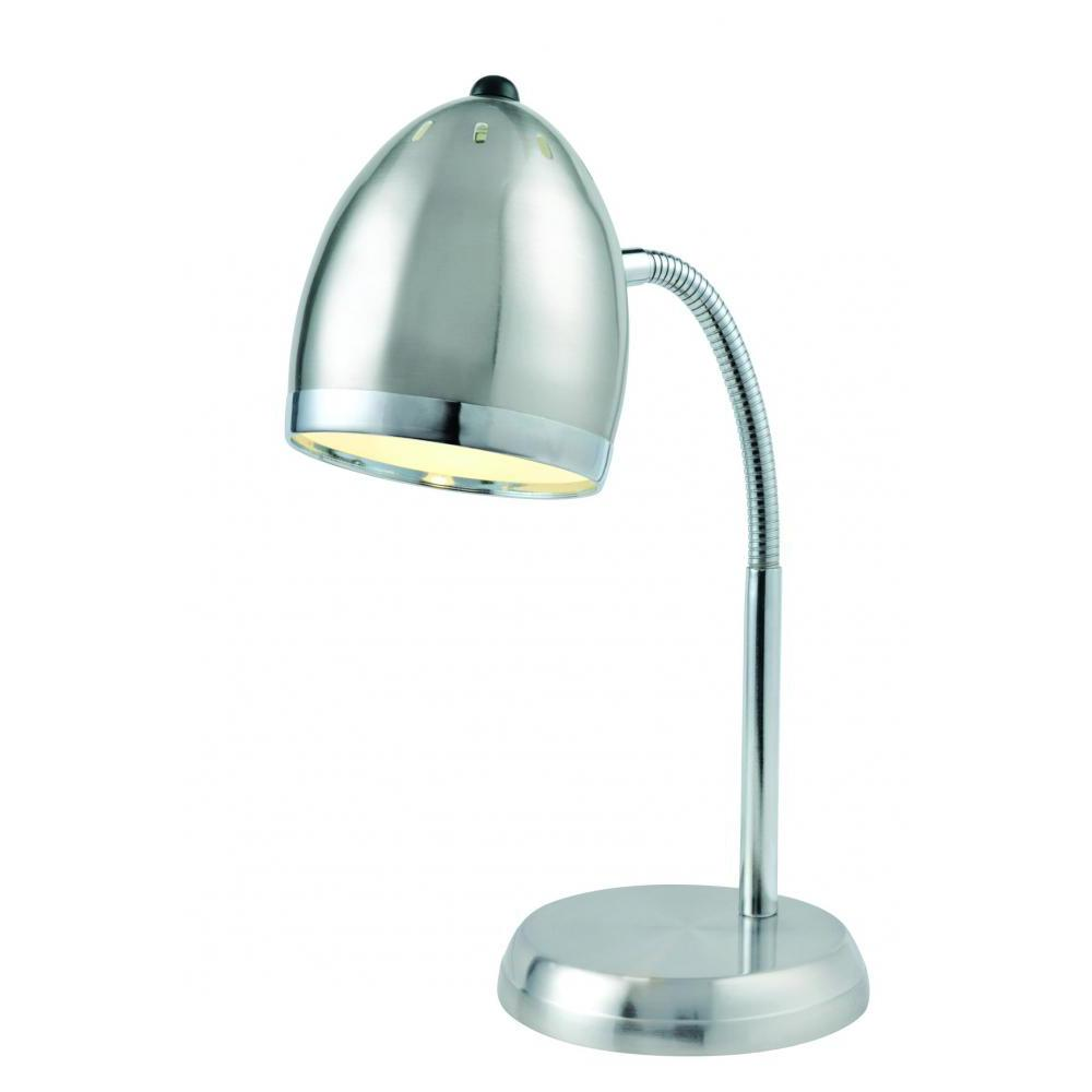16 in. Polished Steel Desk Lamp