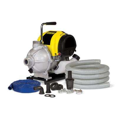 1 in. Gas Powered Water Transfer Pump with Hose Kit