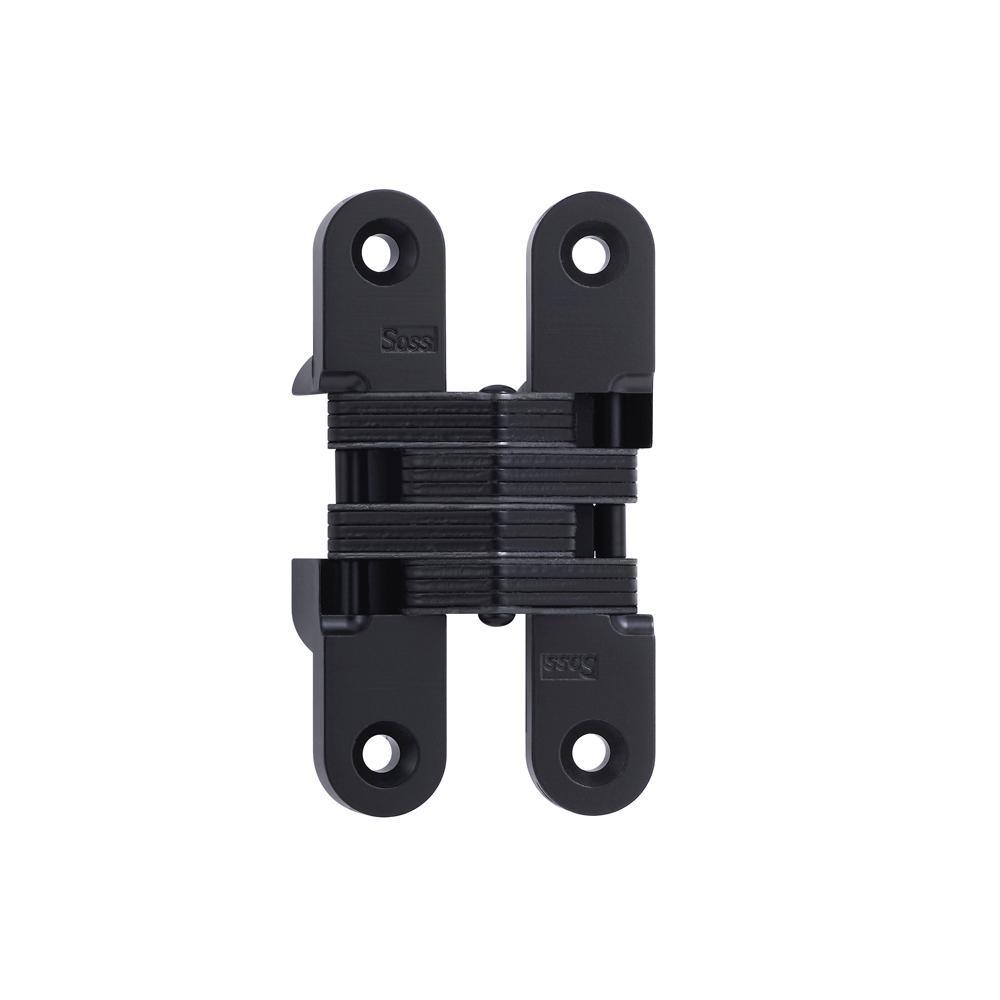 3/4 in. x 3-3/4 in. Black E-Coat Invisible Hinge