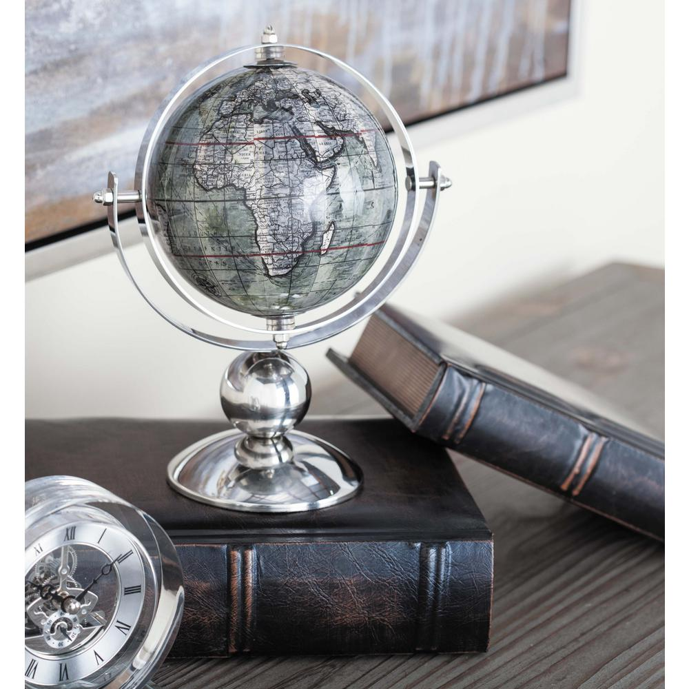10 in. x 8 in. Modern Decorative Globe in Brown and