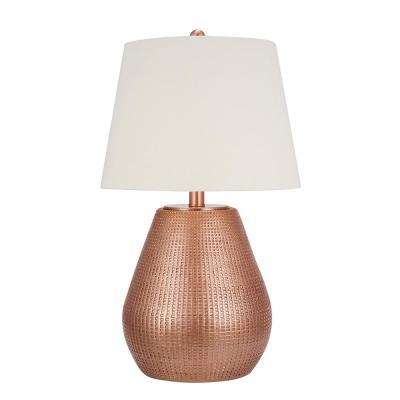 Cresswell 27.25 in. Copper Global Table Lamp and LED Bulb