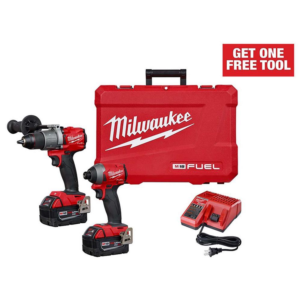 Milwaukee M18 FUEL 18V Cordless Impact/Hammer Drill Combo Kit Deals