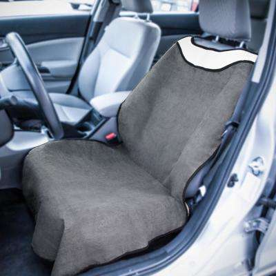 Polyester Seat Covers 27 in. L x 21 in. W x 50.5 in. H Sweat Towel Seat Cover Gray