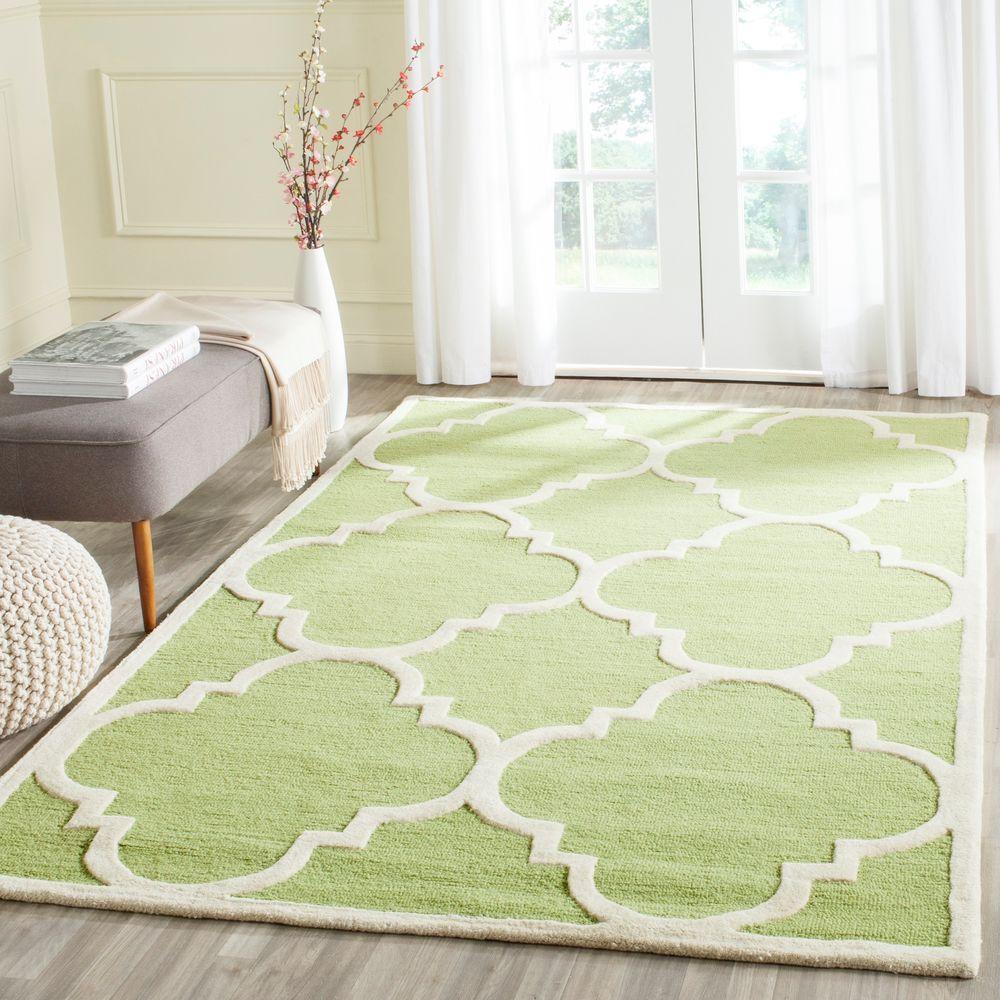Cambridge Green/Ivory 4 ft. x 6 ft. Area Rug