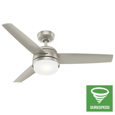 Midtown 48 in. LED Indoor Matte Nickel Ceiling Fan with Light and Remote Control