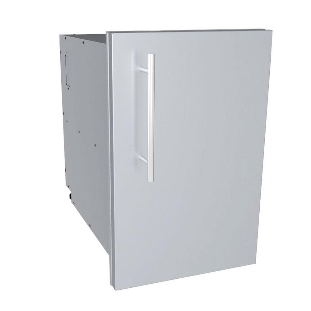Designer Series Raised Style - 15 in. Single Door Dry Storage Pantry