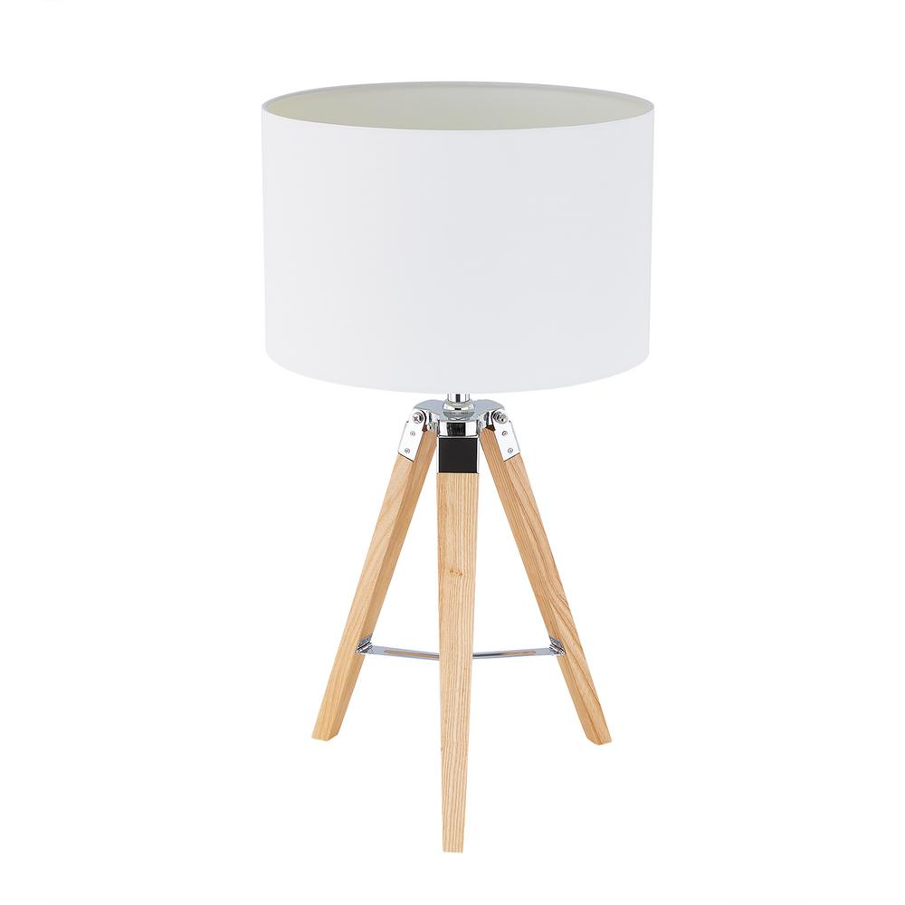 Southern Enterprises Fa 26 25 In Natural Wood Table Lamp With Tripod Base