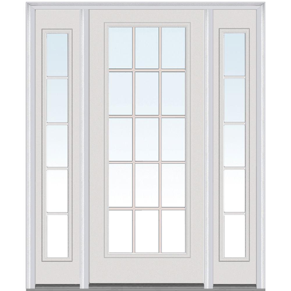 MMI Door 60 In. X 80 In. Grilles Between Clear Glass Left