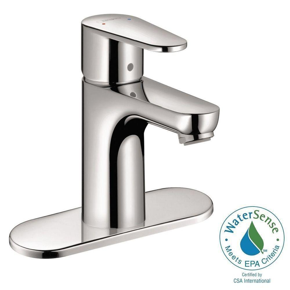 Hansgrohe Talis E2 Single Hole 1-Handle Bathroom Faucet in Chrome ...