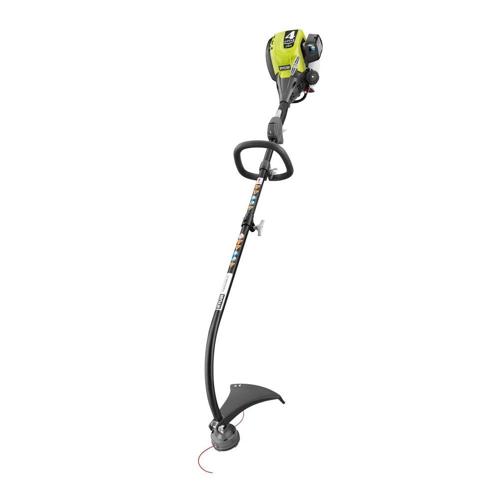 RYOBI Reconditioned 4-Cycle 30cc Attachment Capable Curved Shaft Gas Trimmer