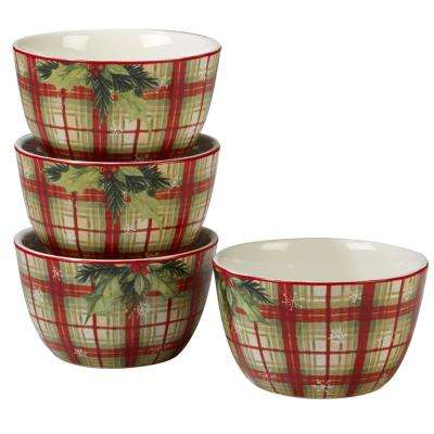Holiday Wishes by Susan Winget 5.25 in. Ice Cream Bowl (Set of 4)