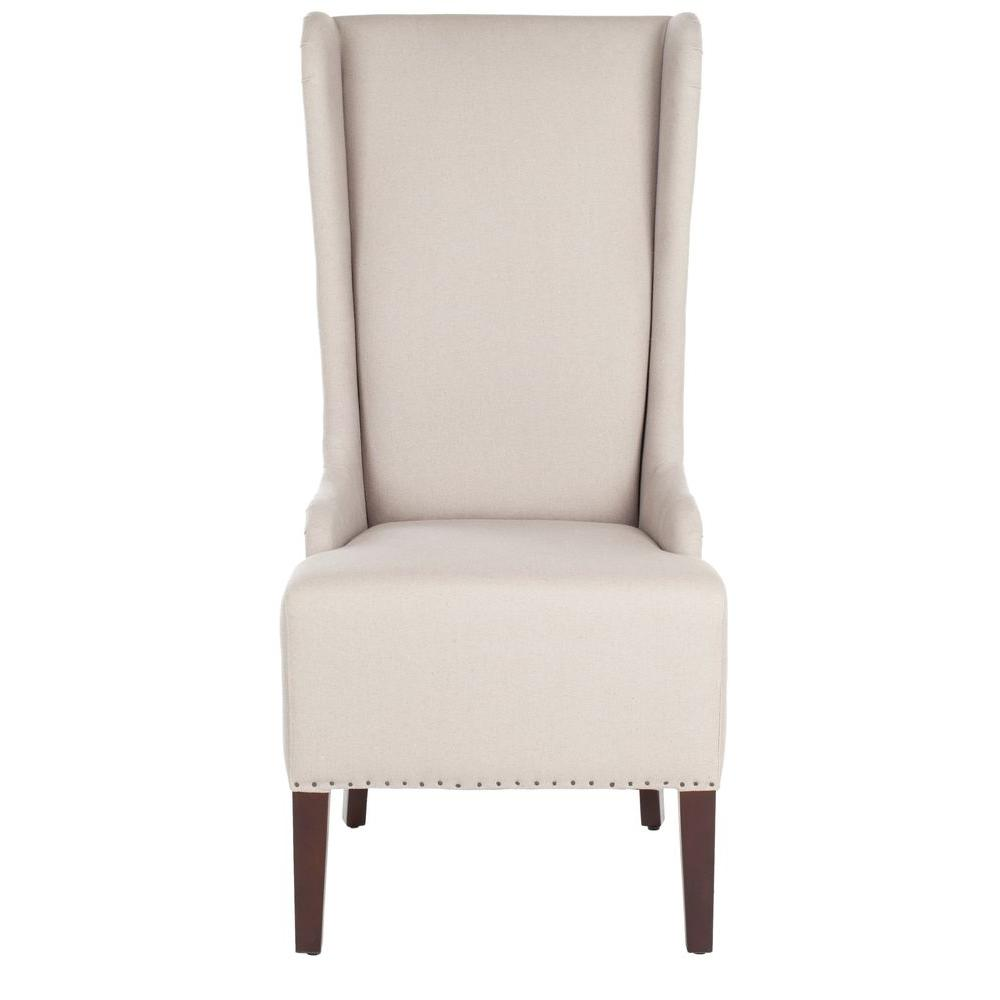 Safavieh Bacall Taupe Linen Dining Chair