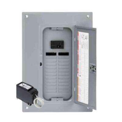 QO 100 Amp 24-Space 24-Circuit Indoor Main Breaker Plug-On Neutral Load Center with Cover, Surge SPD