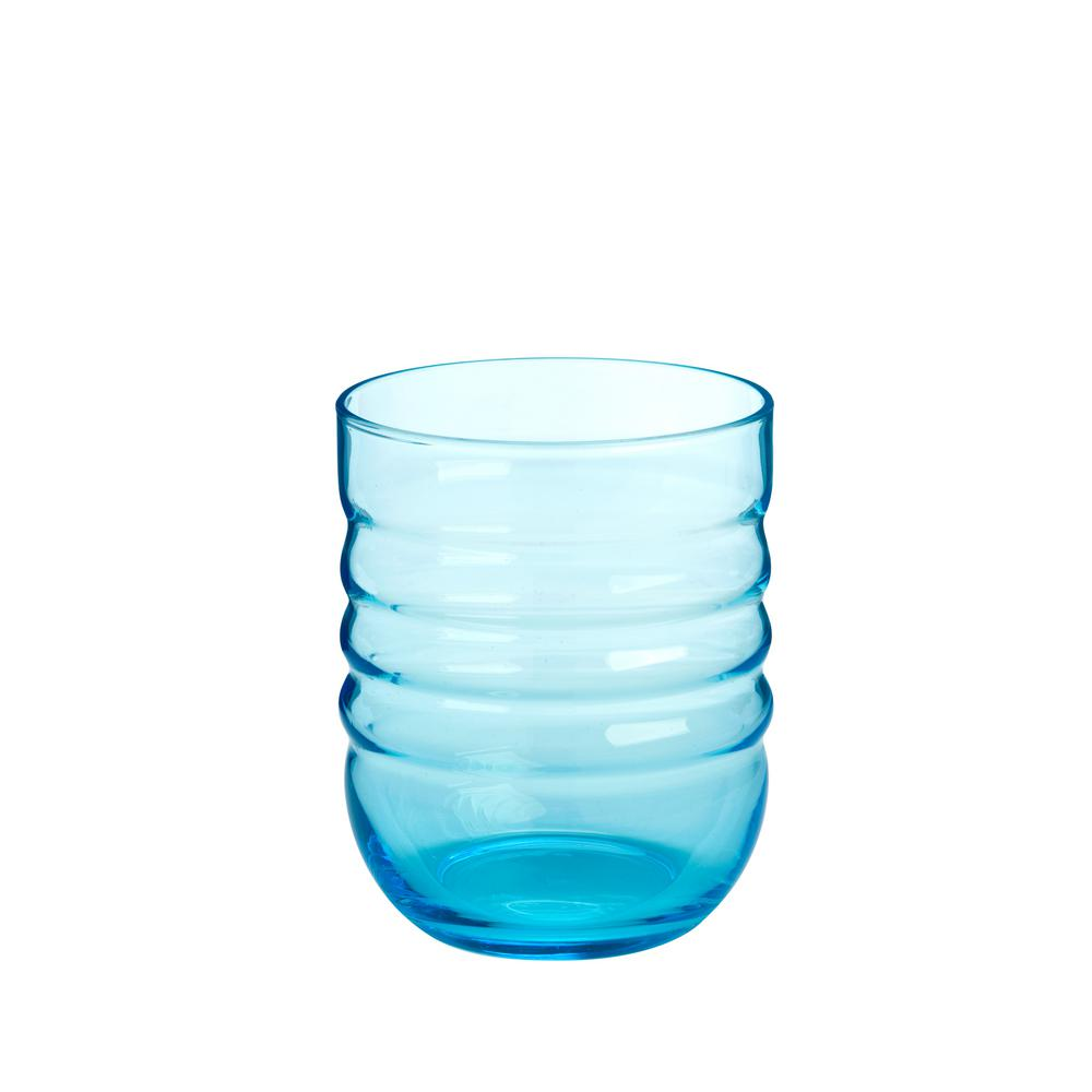 16 oz. Double Old Fashion Glasses (Set of 4) Spa Aqua Dof is 16 oz., 3.5 in diameter and 4.5 in. tall and comes as a set of 4-piece Spa has a contemporary design with the glass lighly tint an aqua blue. The glass is consumer and restaurant dishwasher safe.