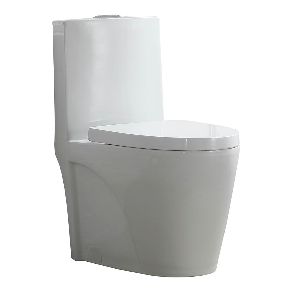 OVE Decors Buxton 1-Piece 1.6 GPF/1.1 GPF Dual Flush Elongated ...