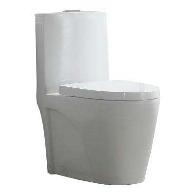 Buxton 1-Piece 1.6 GPF/1.1 GPF Dual Flush Elongated Toilet in White