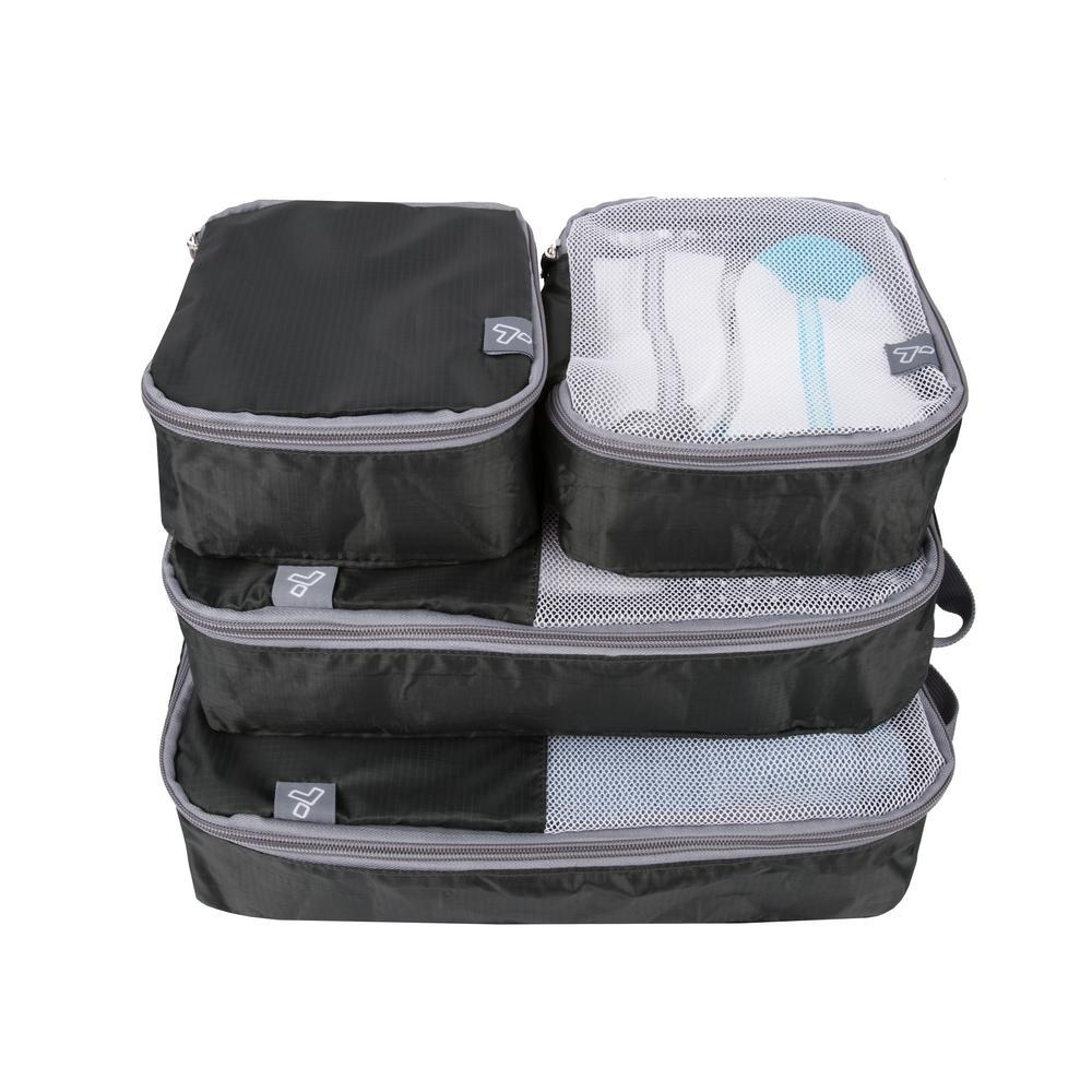 Black Soft Packing Organizers (Set of 4)