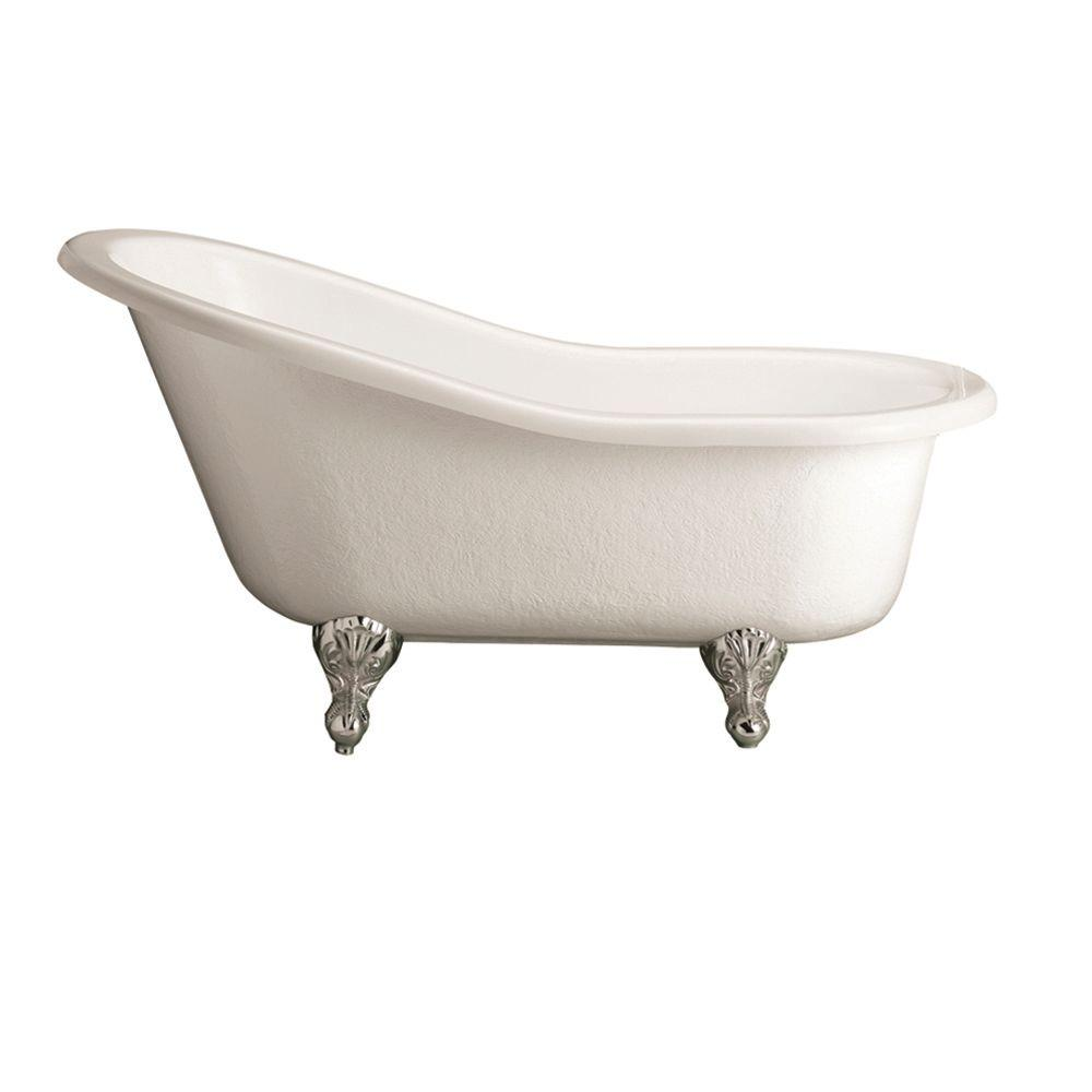 Pegasus 5 ft. Acrylic Ball and Claw Feet Slipper Tub in Bisque-ATS60 ...
