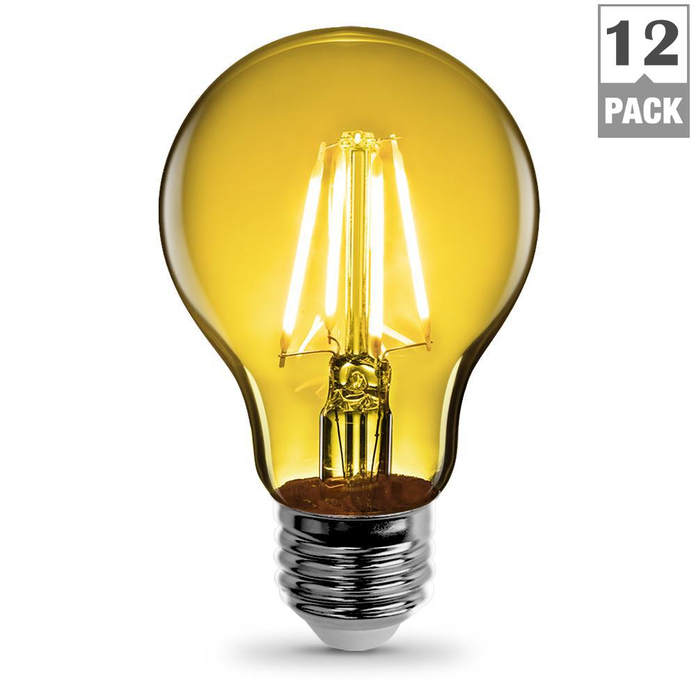 Feit Electric 3 6 Watt Yellow A19 Filament Led Light Bulb Case Of 12 A19 Ty Led 12 The Home