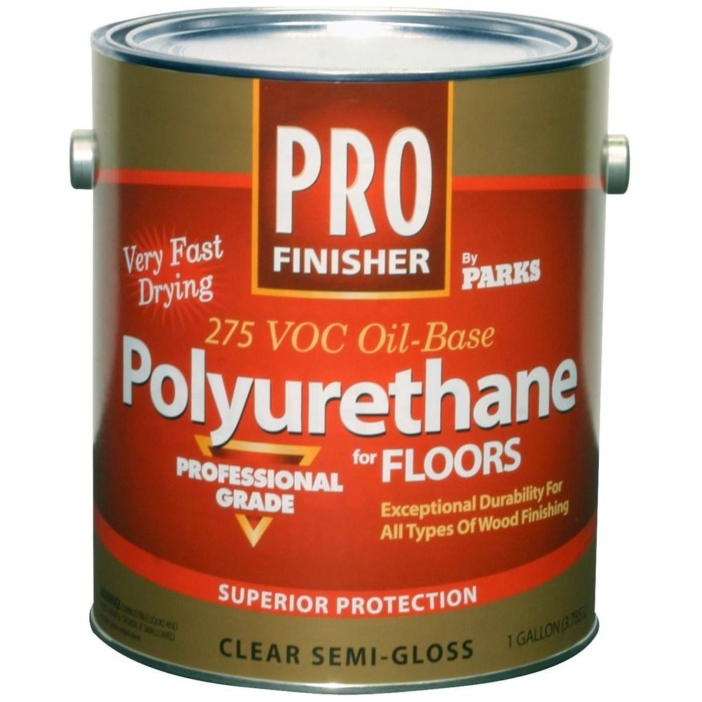 Rust Oleum Parks 1 Gal Crystal Clear Satin Water Based Polyurethane For Floors 258690 The