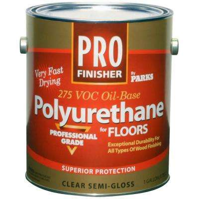 1 gal. Clear Semi-Gloss 275 VOC Oil-Based Polyurethane for Floors (Case of 4)