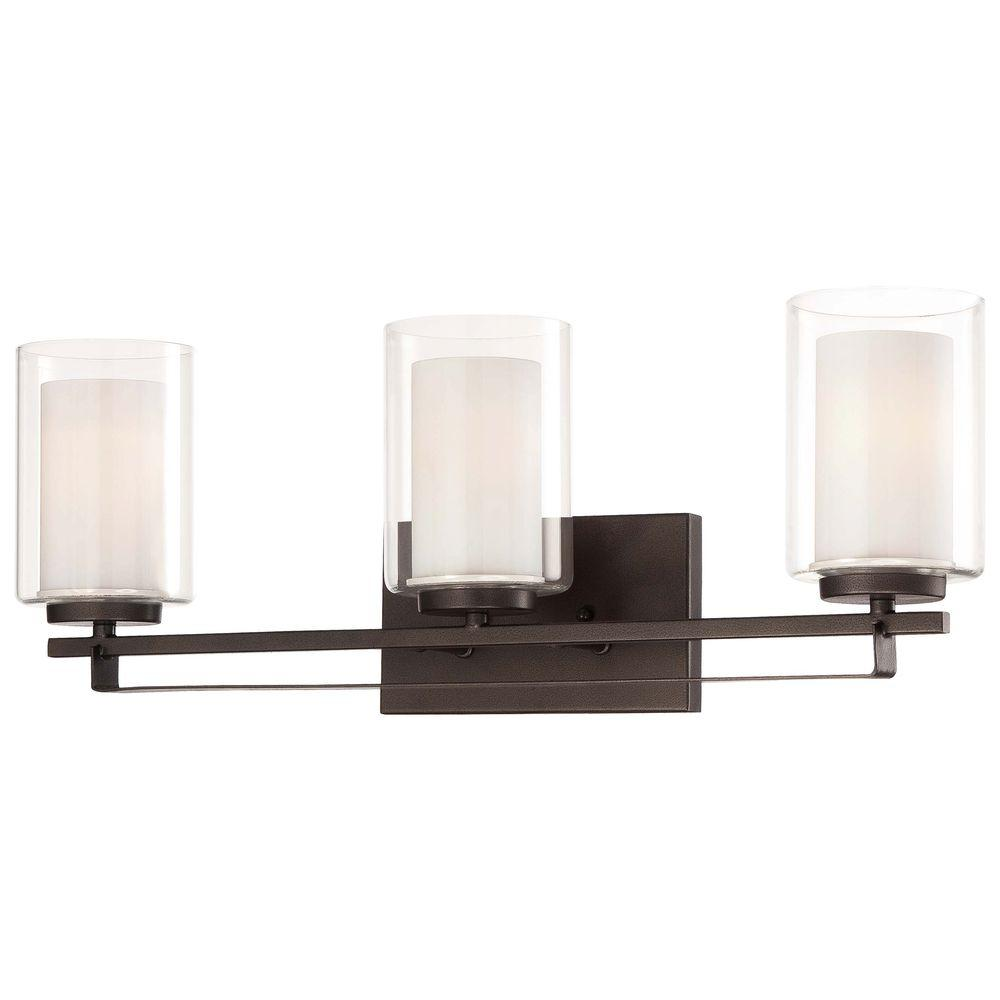 Minka Lavery Parsons Studio Light Smoked Iron Bath Light - Kitchen and bathroom lights