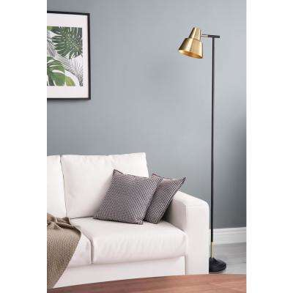 Bryant Brass Floor Lamp