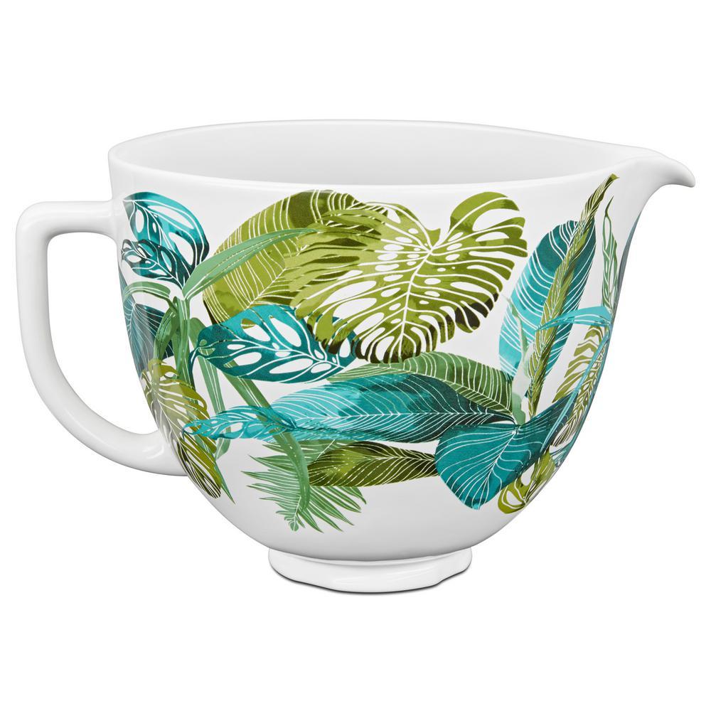 KitchenAid 5 Qt. Tropical Floral Patterned Ceramic Bowl