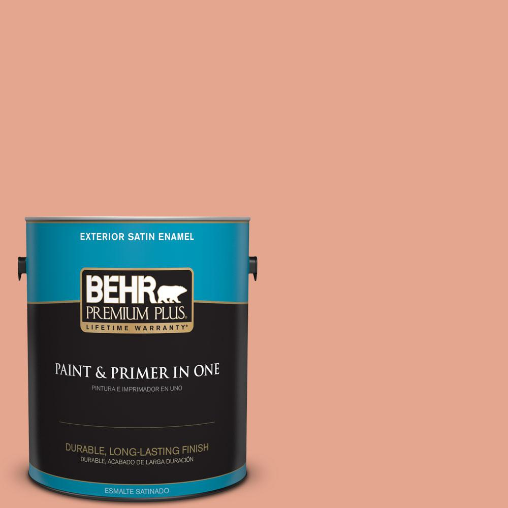 1-gal. #M180-4 Priceless Coral Satin Enamel Exterior Paint
