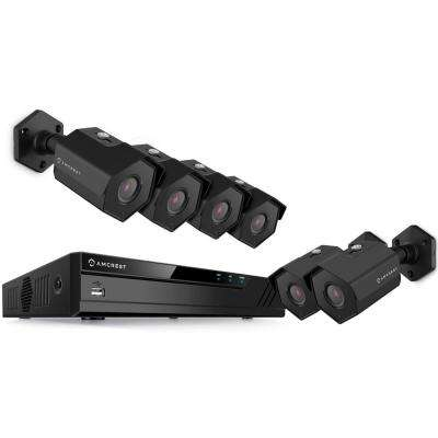 8-Channel 4K NVR 4MP 1440p Surveillance System with 8-Wired POE Bullet Cameras with 98 ft. Night Vision